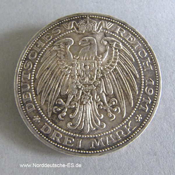 Deutsches Reich 3 Mark 100 Jahre Universität Breslau