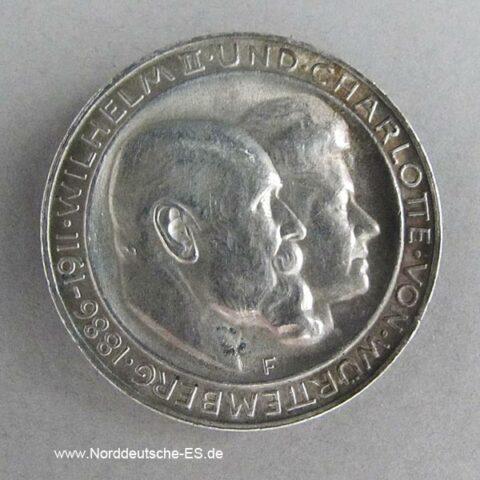 Deutsches Reich 3 Mark König Wilhelm II Charlotte