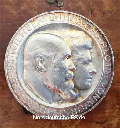 Deutsches Reich 3 Mark Koenig Wilhelm II Charlotte von Wuerttemberg 1886-1911