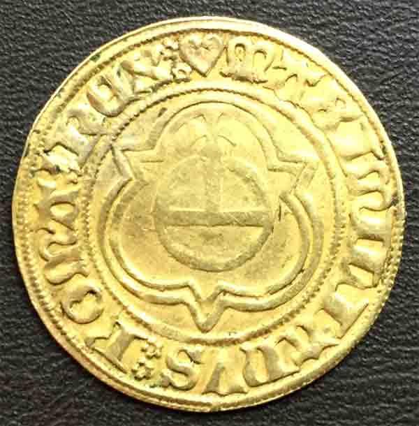 Hamburg Stadt 1438-1439 ALBERTUS ROMANORU REX3 - Reichsapfel im Spitzdreipass