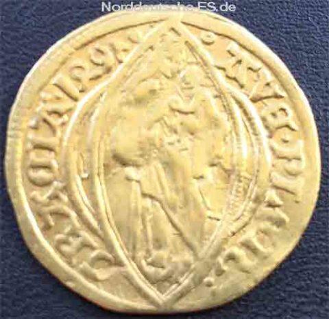 Hamburg Stadt 1497 Altdeutschland Gold 14-15Jh AVE PLEN GRATIA