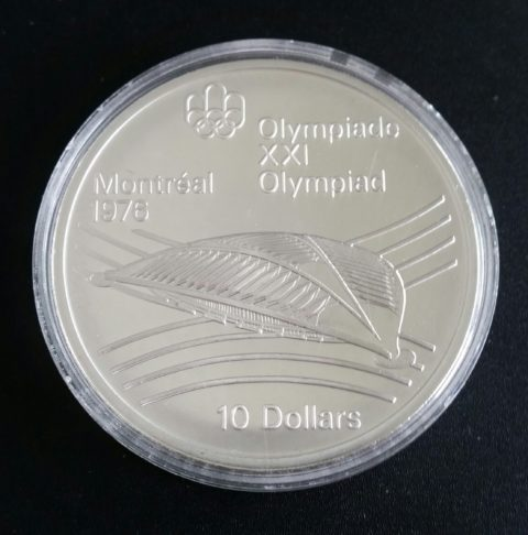 Kanada 10 Dollars 1976 Montreal Silbermuenze