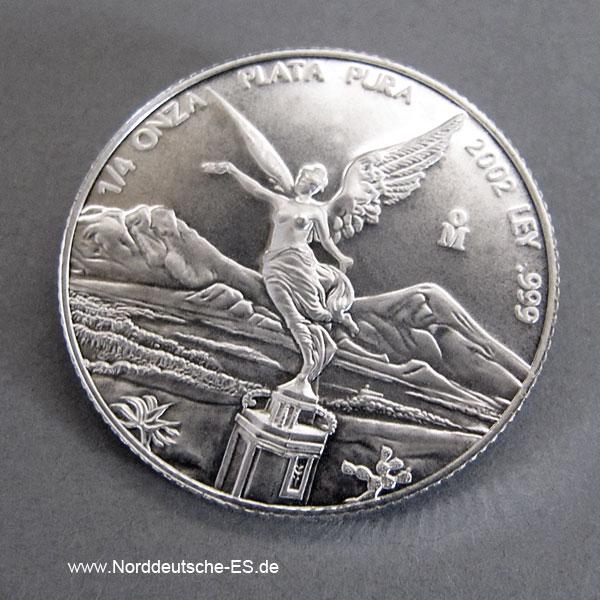Mexiko Libertad 1_4oz Feinsilber 999 Anlagemünze