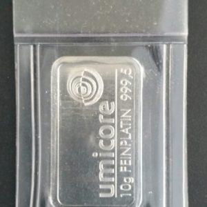Platinbarren 10 Gramm 9995 Umicore