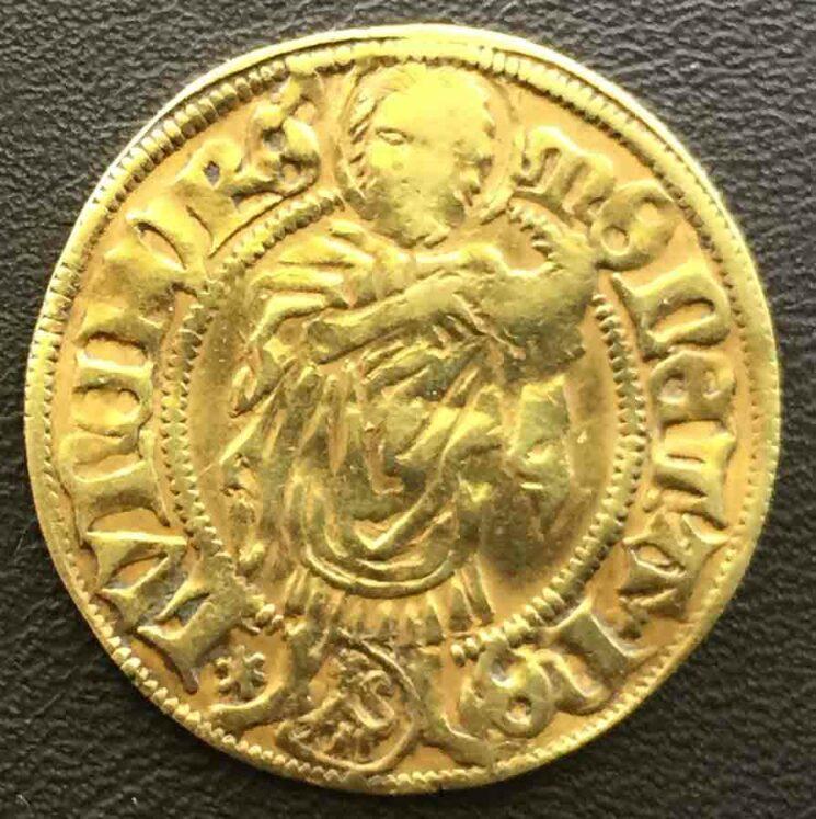 Lueneburg Stadt Koenig Friedrich III 1440-1452 Goldgulden