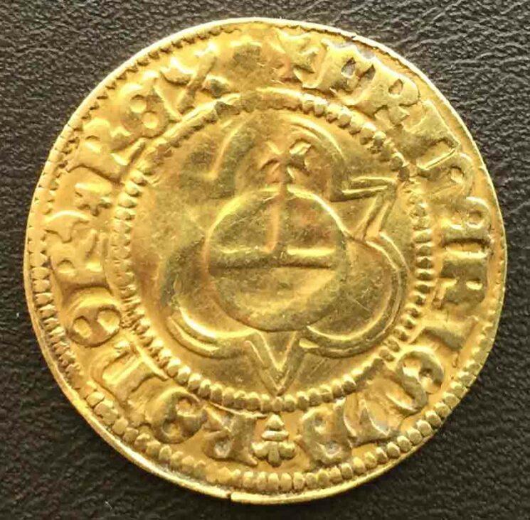 Goldgulden aus Lueneburg gepraegt 1440-1452 Koenig Friedrich III