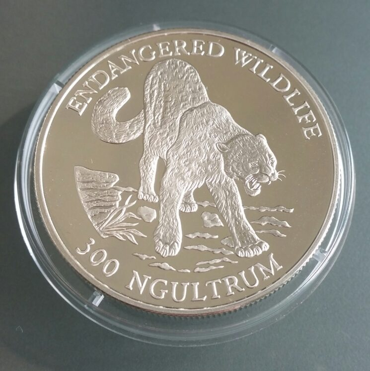 Bhutan Endangered Wildlife 1oz Feinsilber 925