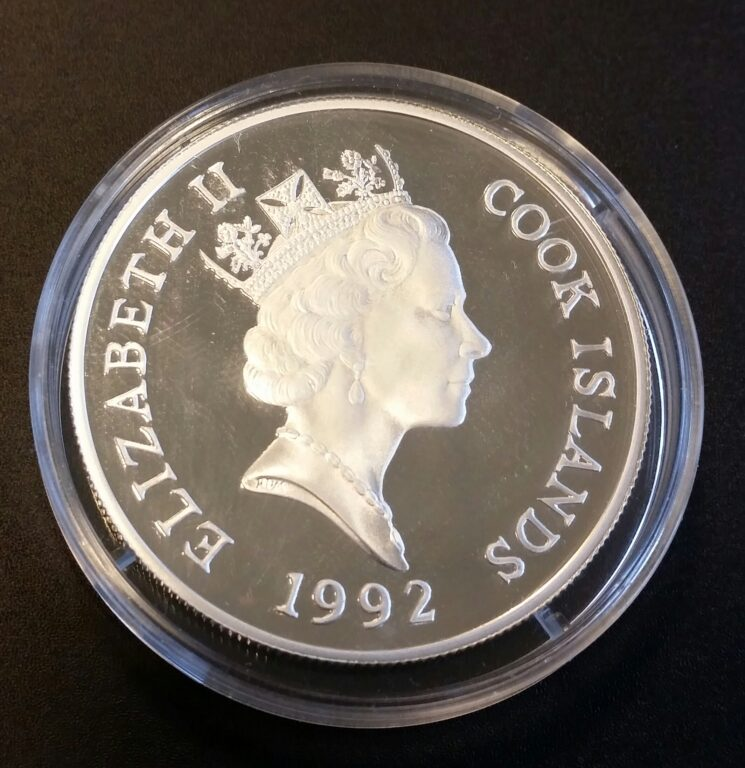 Cook Islands 50 Dollars Silber Endangered World 1992