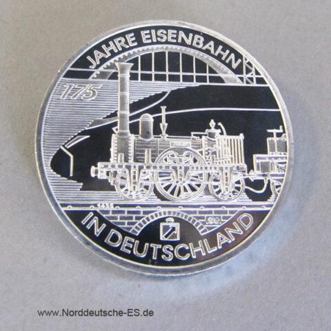 Deutschland 10 Euro Silber 175 Jahre Eisenbahn 2010 Gedenkmünze