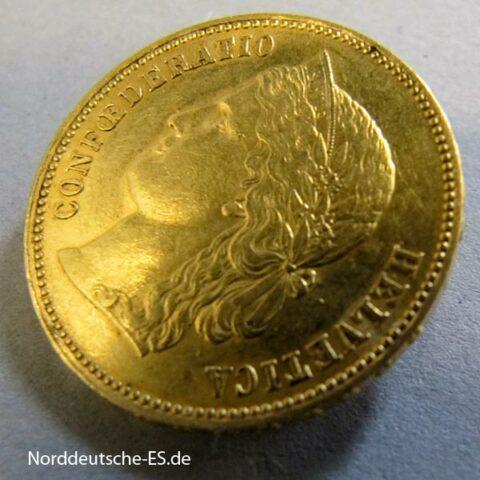 Helvetia 20 Franken Schweiz 1894