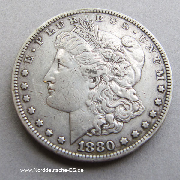 USA 1880 Morgan Dollar Silber