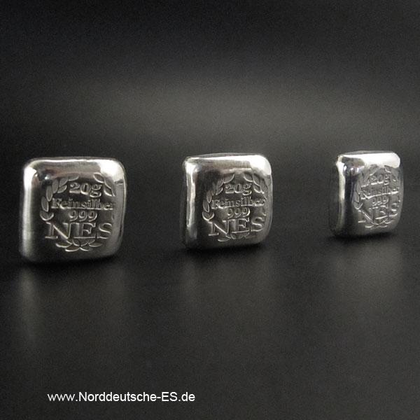 20g Silberbarren 9999 Norddeutsche