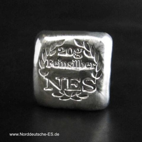20g Silberbarren 9999 Norddeutsche ES Zertifikat