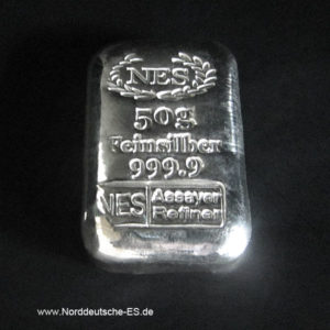 50g Silberbarren 9999 NES