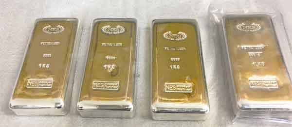 Norddeutsche Edelmetall Silberbarren 1Kg Feinsilber