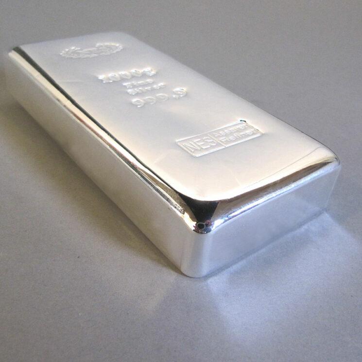 Silberbarren Norddeutsche ES 1 kg Feinsilber 9999