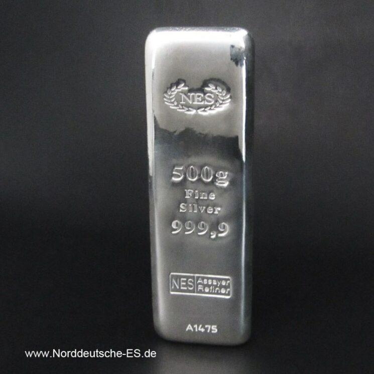 500g Silberbarren 999.9 NES