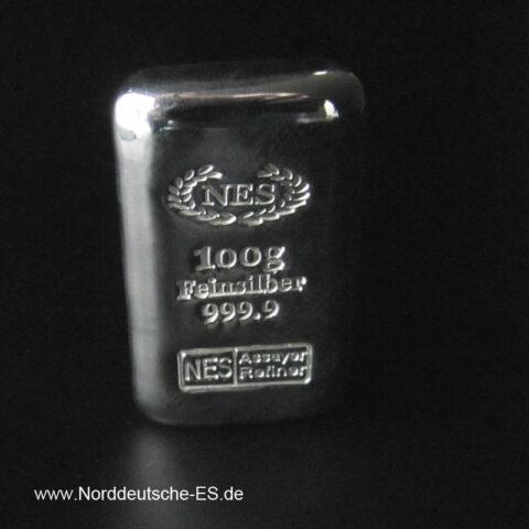 Kleine Silberbarren 10 - 100 Gramm