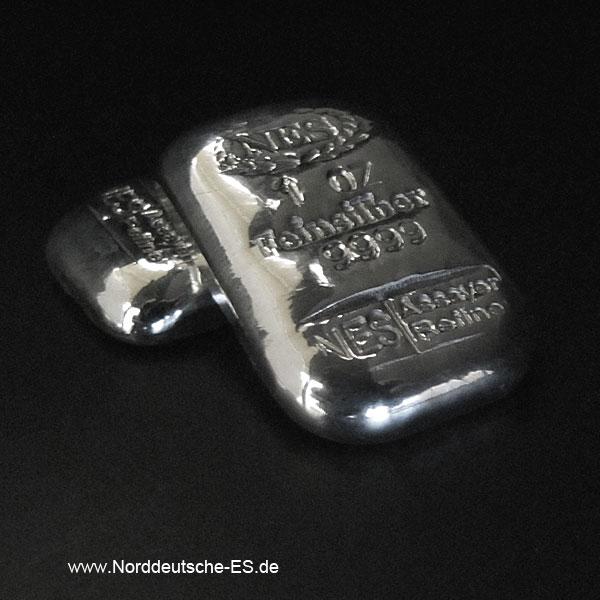 Feinsilberbarren 9999 1Unze Norddeutsche Edelmetall