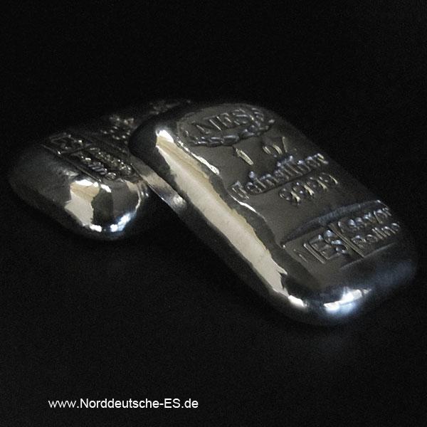Norddeutsche ES 1 Unze Silberbarren 9999
