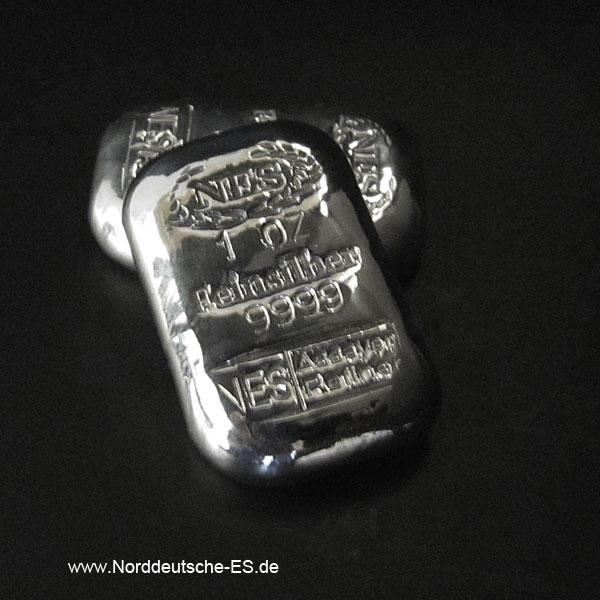Silberbarren 1 oz 9999 Norddeutsche ES