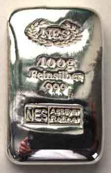 Norddeutsche ES Silberbarren 100g Feinsilber -999---2