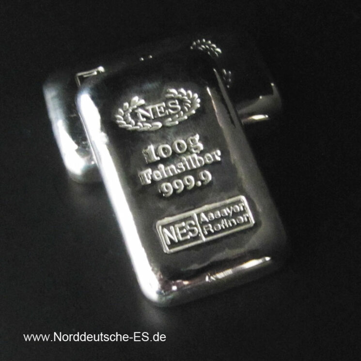 Norddeutsche ES 100g Silberbarren 9999