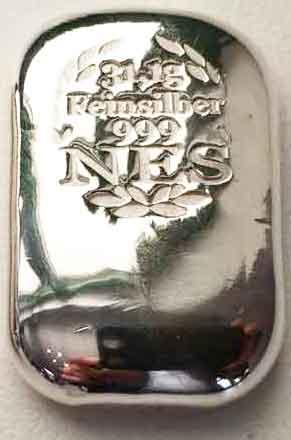 Norddeutsche-ES--1Unze-Feinsilberbarren-999