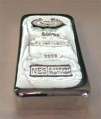 Norddeutsche ES Silberbarren 500g Feinsilber