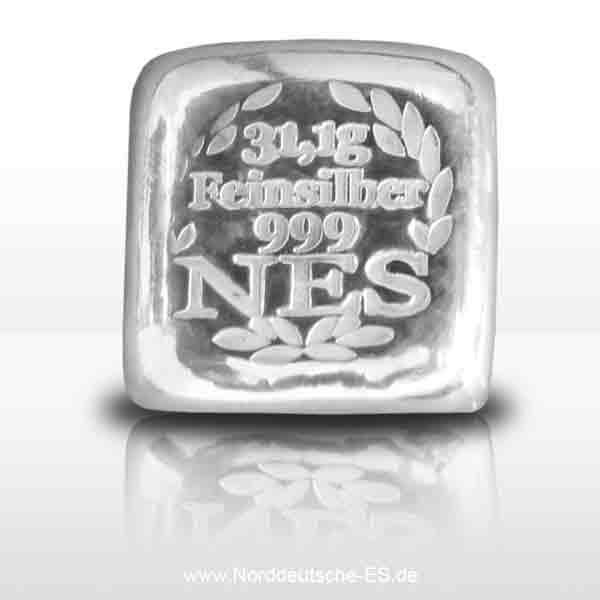Norddeutsche-Silberbarren-31_1g-Feinsilber9999