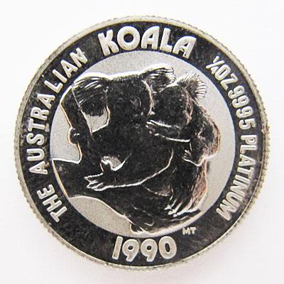Australien Koala 1_4 oz Platinmuenze 1990 Bullion Feinplatin 999_5