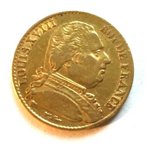 Frankreich-Piece-de-20-Francs-20-Francs-Louis-XVIII-1814