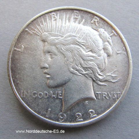 USA One Dollar Silber Peace Dollar