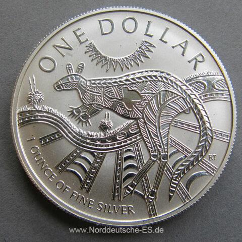 Australien ONE Dollar Kangaroo 2003 - 1oz Feinsilber 999