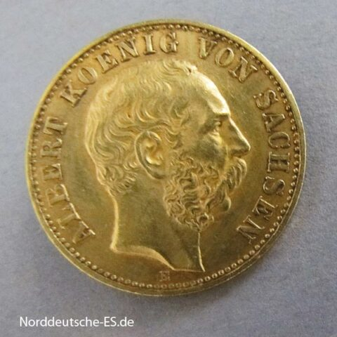 Deutsches Reich 10 Mark Gold 1898 Albert I historisches Original