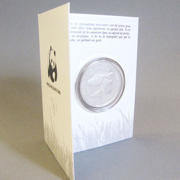 Jersey 2 Pfund Silbermünze Rosentaube 1987 Elizabeth - 25 Jahre WWF