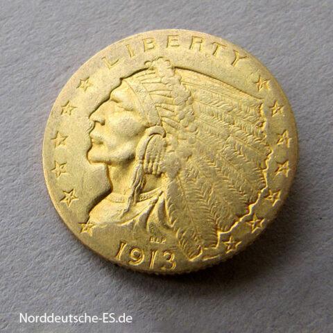 USA-2_5-Dollars-Goldmünze-Indian-Head-1908-1916