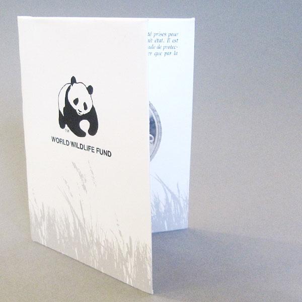 Zertifikat Gedenkmünze 25 Jahre WWF World Wildlife Fund