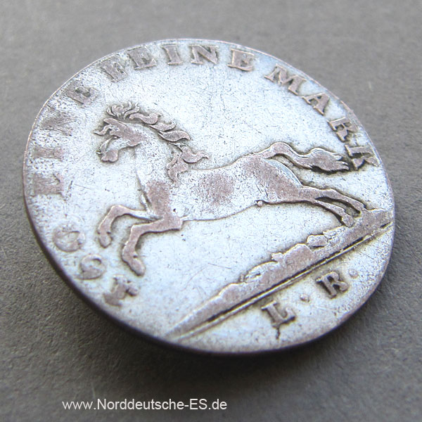 1820 Hannover 3 Mariengroschen 1820 GEORG III. v. ENGLAND Silber