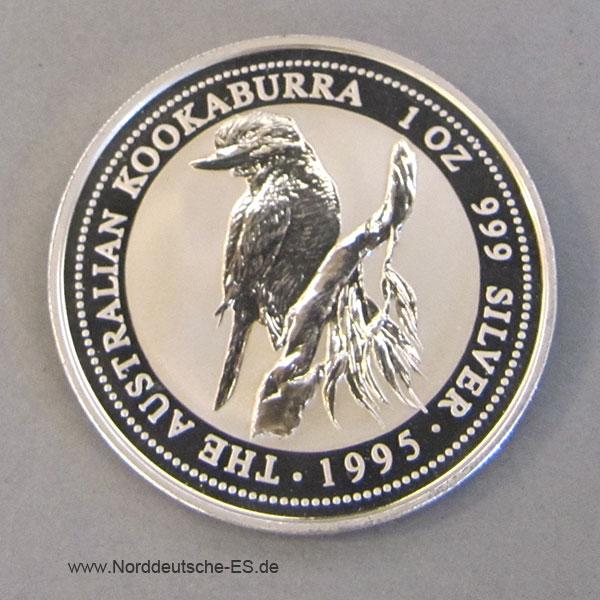 Australien 1 oz Silber Kookaburra 1995