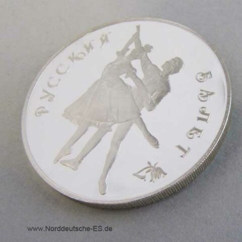 3 Rubel 1993 Silber Ballett