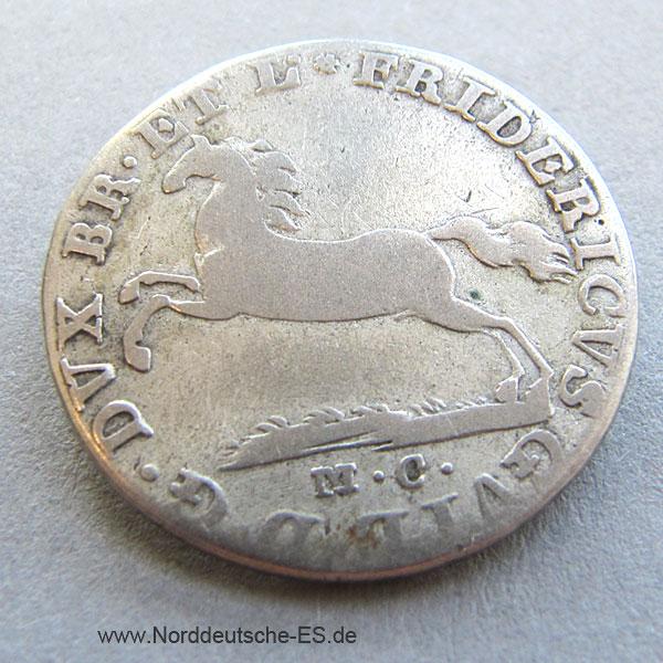 Braunschweig 1_6 Thaler 1814 eine feine mark Fridericus