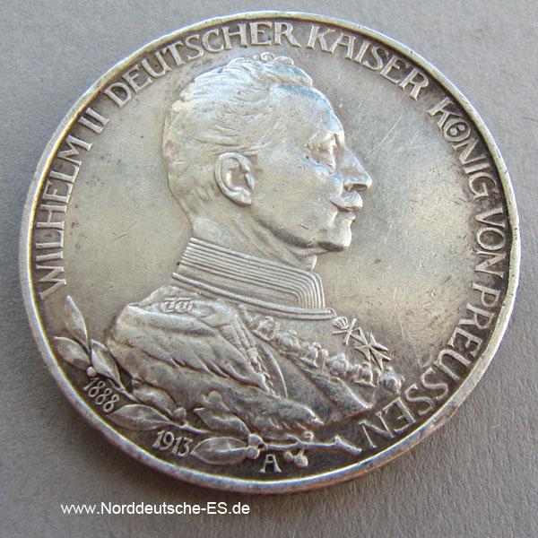 deutsches reich 3 mark 1913