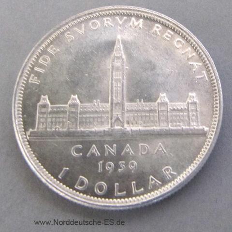 Kanada 1 Dollar Silber 1939 Parlamentsgebäude Ottawa