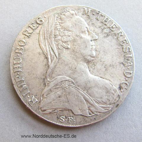 Maria Theresia Taler 1780 Fälschungen 9 Perlen Brosche