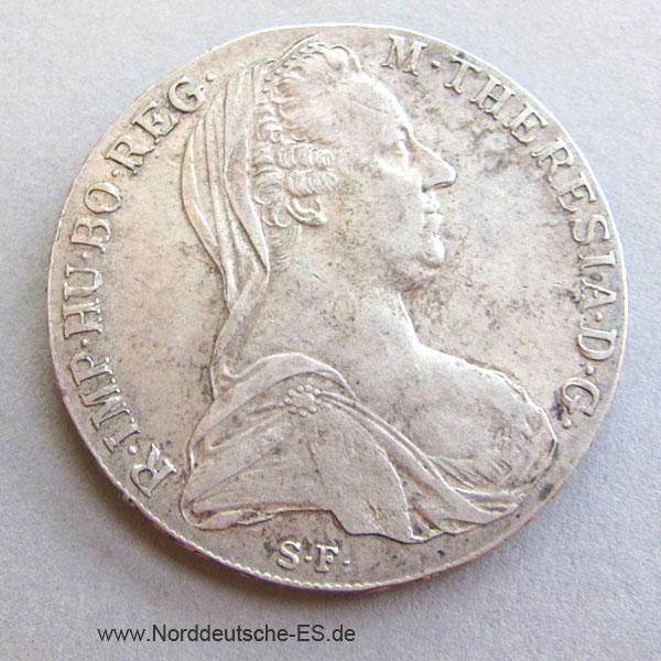 Maria Theresia Taler 1780 Silbermünze Nachprägung Nes Edelmetallshop