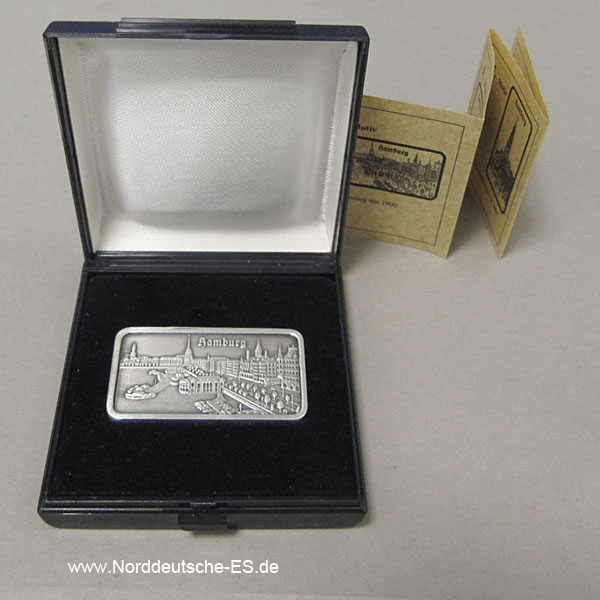 Silberbarren 1 oz Feinsilber 999 Heraeus Hamburg Alster