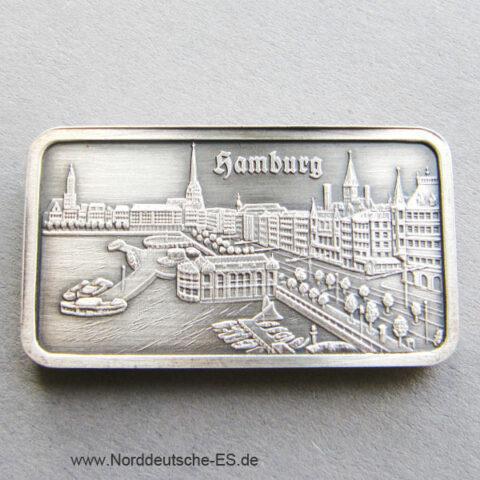 Silberbarren 1 oz Heraeus Hamburg Alster