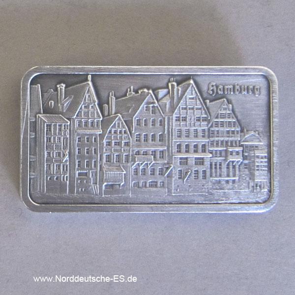 Silberbarren 1 oz Feinsilber 999 Heraeus Hamburg Altstadt