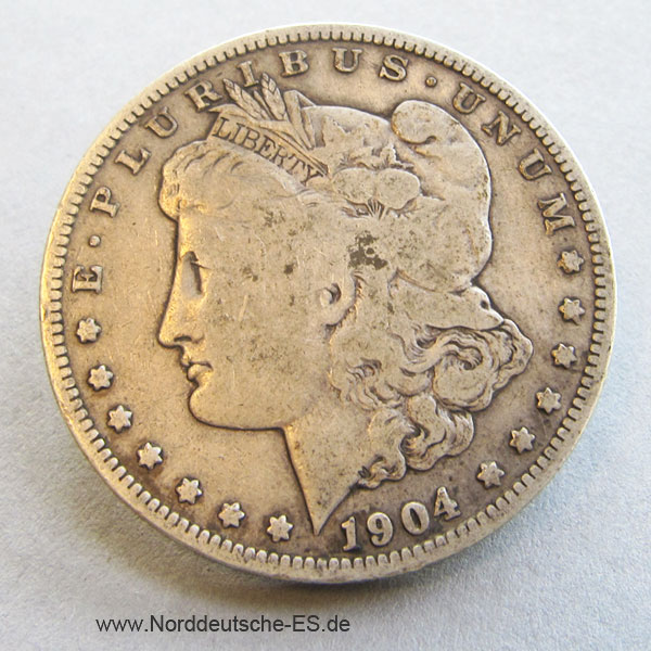 USA 1 Dollar 1904 Morgan Dollar Silbermünze